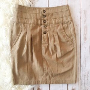 Zara Basic khaki pencil skirt